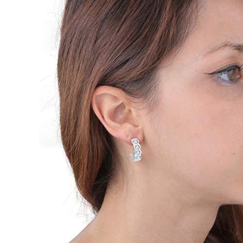 Morellato SAKM36 - Pendientes colgantes para Mujer, 1.5 cm, Plata