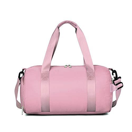 Borsone sportivo da palestra per donne e uomini 25 litri impermeabile yoga fitness scomparto spalla borsa da viaggio, Stile 1, rosa (Rosa) - ZYJSB002-Pnk