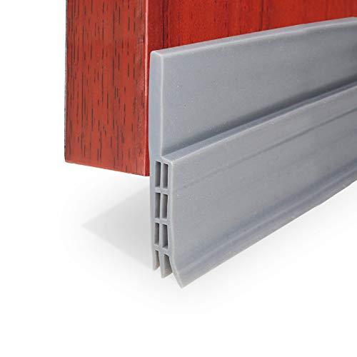 XUDAKJ Selbstklebende Tür Türdichtung Dichtungsstreifen Zugluftstopper gegen Insekt Ersatzdichtung Wetterfest Blocker Schalldichtung Silikon Türstopper (Grau, 100 x 5cm)