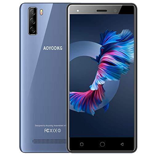 Smartphone Offerta del Giorno 4G, Android 9 Cellulari Offerte con 5 Pollici HD+ Schermo,3400mAh,Quad-core 16 GB ROM   128 GB Espandibili,8MP Doppia Fotocamera Dual SIM Telefono Cellulare -Blu