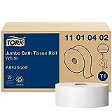 Tork Jumbo Toilet Paper Roll White T1, Advanced, 1-ply, 6 x 3,424 sheets, 11010402
