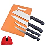 NNN Stainless Steel Knife Set for Kitchen with Chopping Board-Kitchen Knife Set