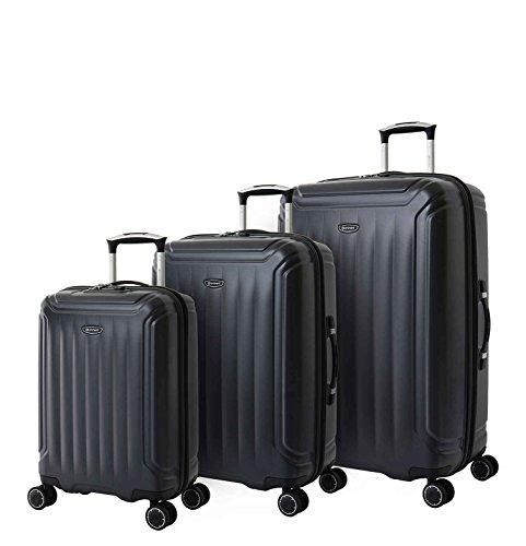 Eminent Bagage Set Cove 3 stks Extra veilige ritssluiting 4 Dubbele wielen TSA-slot Zwart