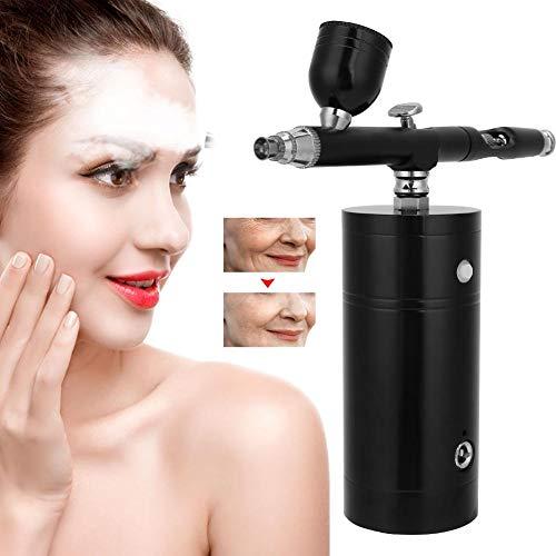 Airbrush, compressor airbrushpistool, draagbare USB-zuurstofinjectieverstuiving Airbrush vochtverzorgende huidverzorging spuitpistool gravity challge sjablonen tattoo taartpistool