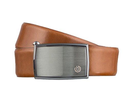 Bugatti Gürtel Herrengürtel Ledergürtel Automatikschließe Cognac 3156, Farbe:Braun, Länge:105