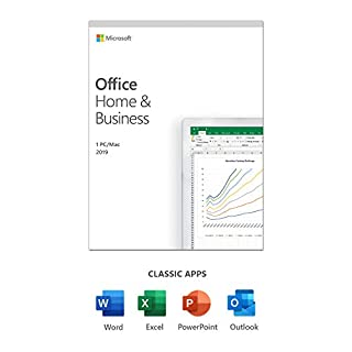 Microsoft Office 2019 Home & Business | 1 user | 1 PC (Windows 10) or Mac | one-time purchase | multilingual | box (B086917QT5) | Amazon price tracker / tracking, Amazon price history charts, Amazon price watches, Amazon price drop alerts