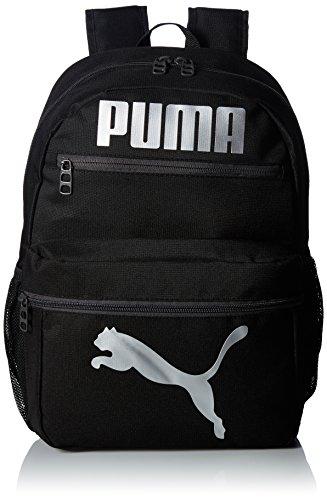 PUMA Boys' Big Evercat Meridian 2.0 Backpack, black/silver, OS