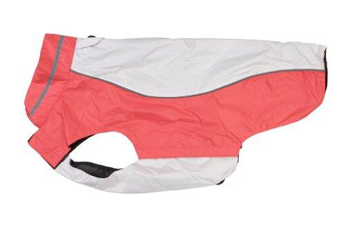 Buster Outdoor Wear Hunde-Regenmantel, Größe XXL, beige/korallenrot