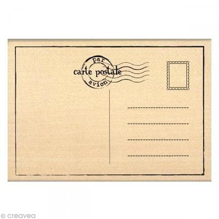 Florilèges Design fg210028Scrapbook Postkarte Stempel 7x 10x 2,5cm, beige