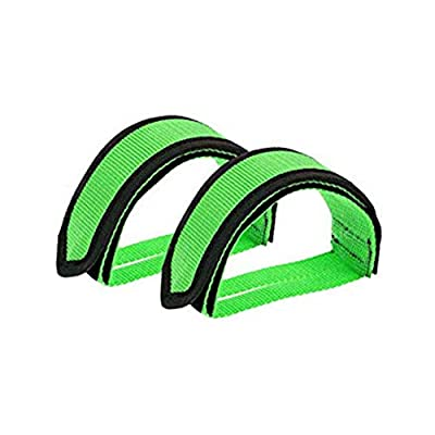 One Pair Bicycle Pedal Straps Toe Clip Strap Belt Adhesivel Bike Pedal Tape Fixed Gear Cycling Fixie Cover Blue (Green)