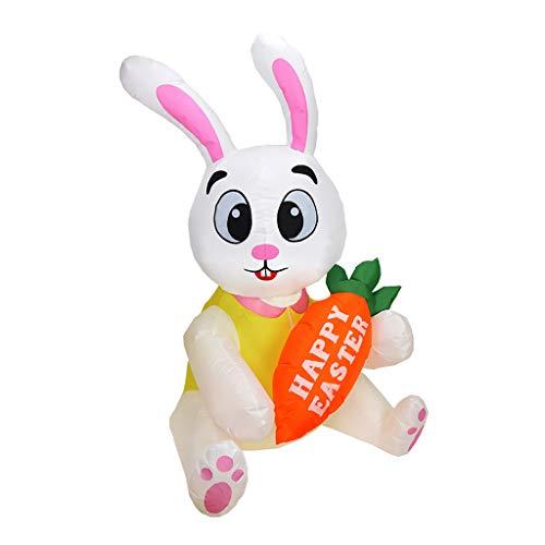 6Wcveuebuc 1.6m inflable de Pascua conejo muñeca led luz de la noche de la figura patio jardín al aire libre juguetes de fiesta adorno decoraciones de EE.UU./Reino Unido/UE/AU enchufe