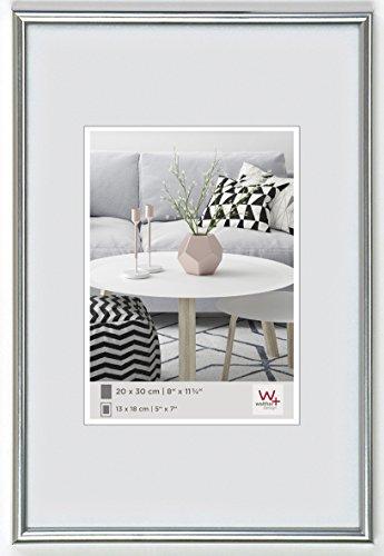 walther design KS070H Galeria Kunststoffrahmen im Format, 1 (50 x 70 cm), silber