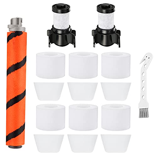 iSingo Shark IF201 Replacement Kit for Shark ION Flex DuoClean IF201 IF100 IF200 X30 X40 F60 F80 IF205 IF251 IF281 IR70, 2 HEPA Filters + 6 Foam & Felt Filters + 1 Brush Roll + 1 Cleaning Brush, Compare to Part #XPREMF100 XPSTMF100