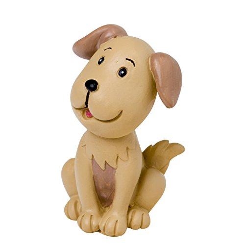 Mopec Figura Pastel de Novios con Mascota Perro, Poliresina, Marrón, 4x4x7 cm, 1 Unidad