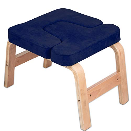 Hopopular Suede Velvet Pads Yoga Headstand Bench Inversion Headstand Chair Yoga Body...