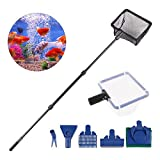 RCruning-EU 6 en 1 Kit de Nettoyage pour Aquarium Adjustable Cleaner Kit Stainless...
