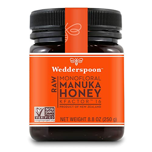 Wedderspoon Raw Premium Unpasteurized Manuka Honey, KFactor 16 8.8 Ounce