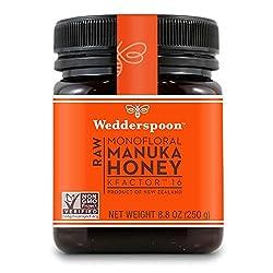 Wedderspoon Raw Premium Unpasteurized Manuka Honey, KFactor 16, 8.8 Oz