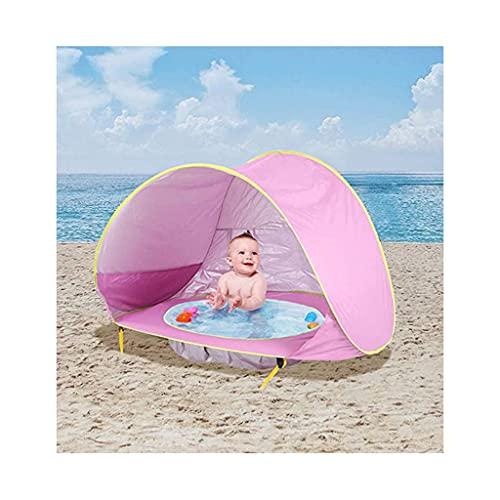 Massager Children Beach Cortina, Mini Piscina Infantil Inflable, Pop Up Tienda Plegable portátil, protección Solar Anti-UV para bebés ( Color : Pink )