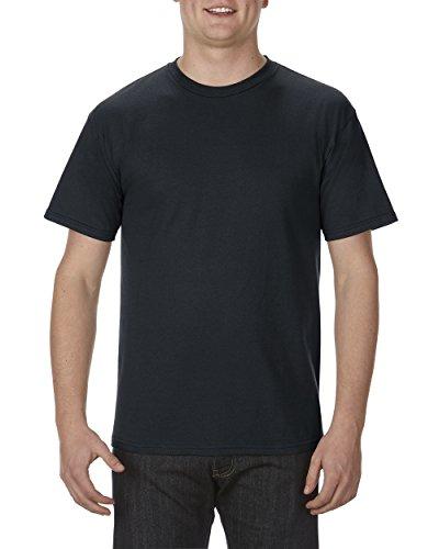 Alstyle Apparel AAA Men's Premium Super Soft Cotton Short Sleeve T-Shirt, Black, Large