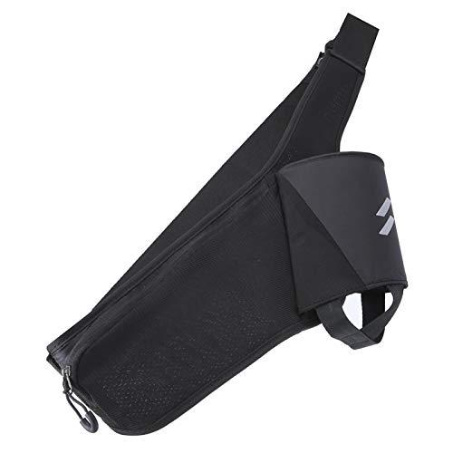 DAUERHAFT Bolsa de Cintura de Botella de Agua Transpirable Alto Brillo Reflectante, para almacenar teléfonos móviles, para Correr(Black)