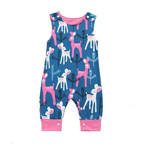 MRURIC Bekleidung,Overall Baby,Neugeborene Kinder Baby Jungen Cartoon Tier Print Spielanzug Overalls Kleidung Sommer,Jumpsuit Strampler Bodysuit Säugling Spielanzug Schlafanzug Outfit