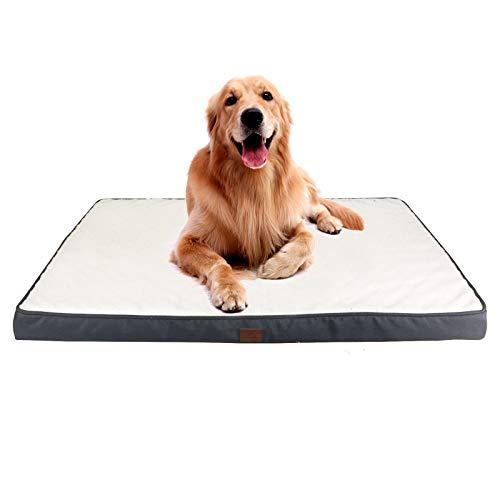 GNEGNIS Materasso per Cani in Memory Foam, Materassino Cane Sfoderabile & Antiscivolo, Lavabile Cani Materasso Letto, 110x83x10cm