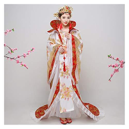 Hanfu - Disfraz de danza concubina imperial de la dinasta Wu Zetian Han y Tang, color chino, talla nica, para mujer