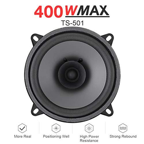 BW - Altavoz coaxial para Coche de 5 Pulgadas y 400 W, para Auto, Puerta de Auto, Auto, música, estéreo, Rango Completo, frecuencia, Altavoz, Altavoz, para Coche