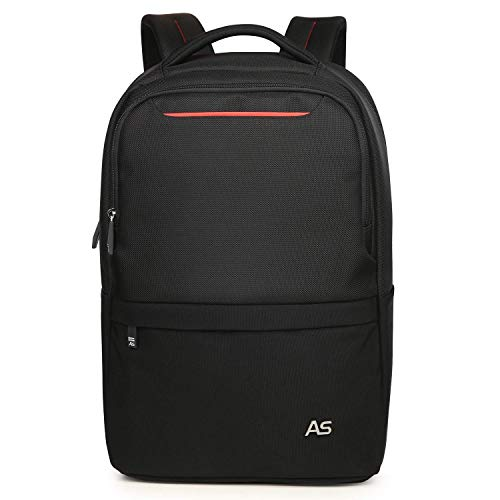 Newace Laptop Rucksack mit Gepäckriemen Modern Design Jung nordace rucksäcke 15.6 Zoll Wasserdicht Business Outdoor Backpack Reiserucksack Schulrucksack Herren Damen Schwarz-Rot