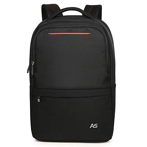 Aspen Laptop Rucksack mit Gepäckriemen Modern Design Jung nordace rucksäcke 15.6 Zoll Wasserdicht Business Outdoor Backpack Reiserucksack Schulrucksack Herren Damen Schwarz-Rot