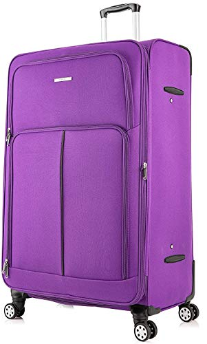 DK Luggage Extra Large 32' Expandable Suitcases 4 Wheel Spinner Purple