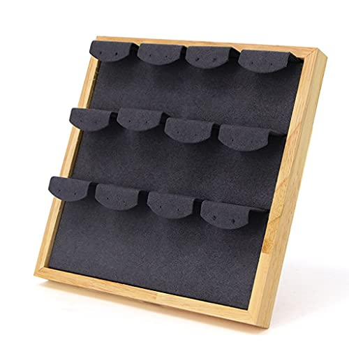 YYDS Pendientes Organizador de la joyería Pendientes Pantalones Pantalla Bandeja del Soporte del Soporte del Estante, 3 Niveles (Color : Black)