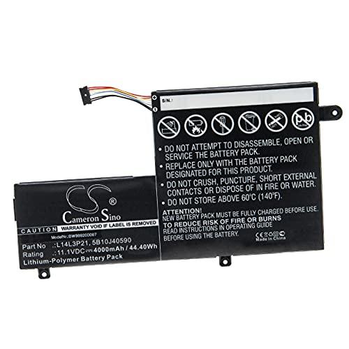vhbw Batería Recargable Compatible con Lenovo Yoga 500-14IHW (80N50069GE), 500 14ISK Notebook (4000 mAh, 11,1 V, polímero de Litio)