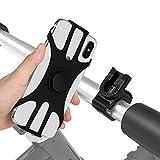 BAONUOR 自転車ホルダー 自転車スマホホルダー落下防止 バイク オートバイ スマホホルダー シリコン自転車 固定用 スタンド スタンド ホルダー 携帯電話ホルダー 取り外し可能 サイクリング 360度回転可能 Face ID/Touch ID互換 充電 4.2〜6.5インチのスマートフォン用 ホルダー iPhone galaxy HUAWEI Sony Xperia nexusなど適用