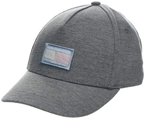 Tommy Hilfiger Unisex Baby Big Cap Kappe, Grau (Grey Fleece Flag 901), L (Herstellergröße: L-XL)