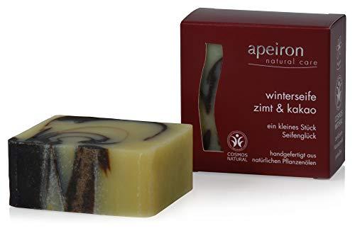 Winterseife Zimt & Kakao - Ayurvedische Pflanzenöl-seife, 100 G Apeiron