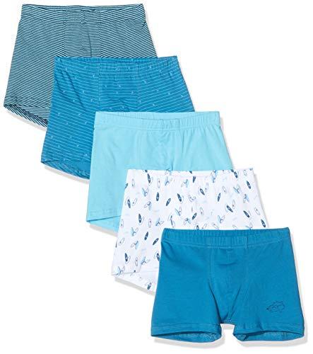 Schiesser Jungen Multipack Rat Henry 5Pack Shorts Boxershorts, Mehrfarbig (Sortiert 1 901), (Herstellergröße:128) (5er Pack)