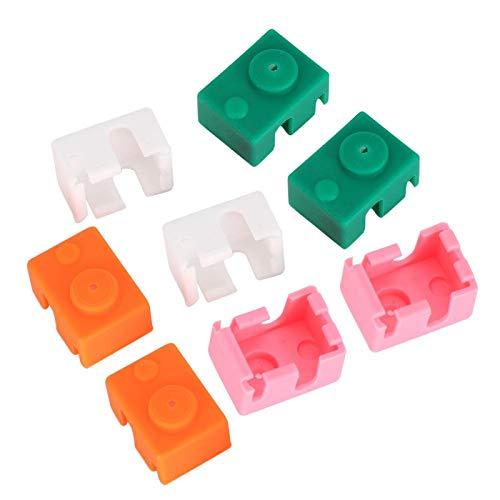 Custodia in silicone resistente alle alte temperature Custodia in silicone di sicurezza resistente alle basse temperature 8 pezzi per stampante 3D per calzino riscaldante