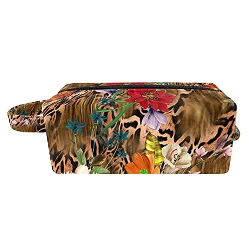 Neceser de viaje para hombres y mujeres multifunción impermeable baño ducha organizador Kit mariposa y hojas
