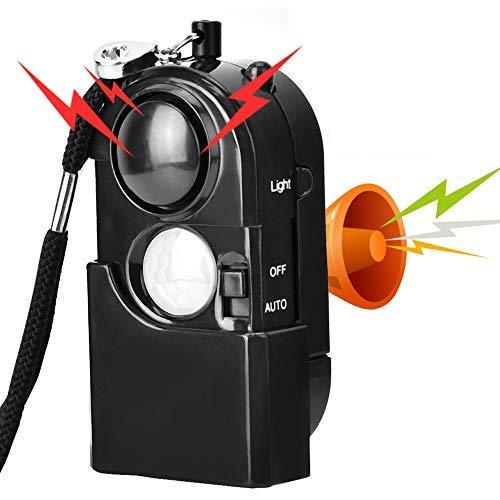 120db Alarma Personal, Alarma de Seguridad Llavero con luz LED, Anti Ataque Sirena de Emergencia Portátil para Mujeres, Niños, Ancianos(Black)