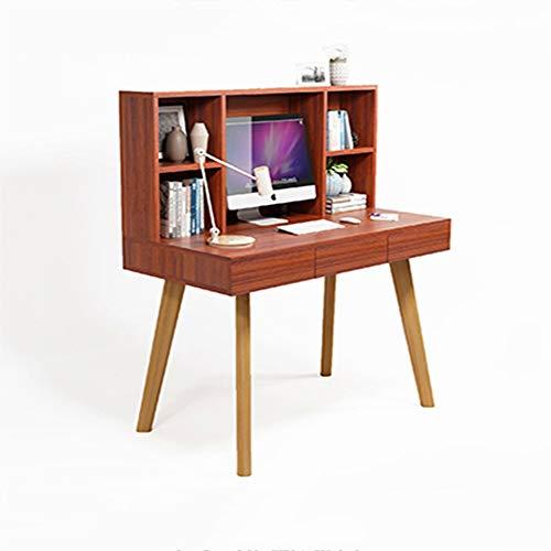 Bureau DD Computer, Desktop Solid Wood Boekenplank - Home Eenvoudige Schrijven Student Slaapkamer (geen stoel) -Werkbank
