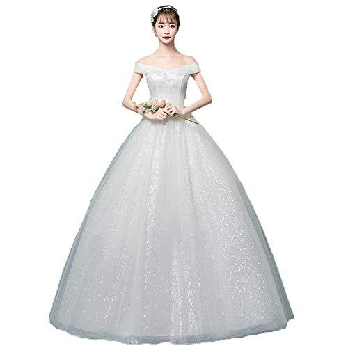 KangJIABAOBAO trouwjurk vrouwen weg van de schouder V-hals Shiny Glitter baljurk bruidsjurk jurk Quinceanera jurk