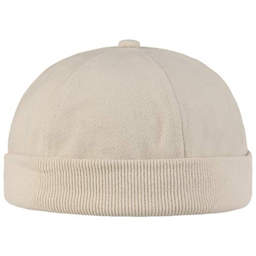 Hutshopping Cotton Dockercap Herren   Mütze aus 100% Baumwolle   Docker in Einheitsgröße (54-61 cm)   Cap mit Klettverschluss   Hafenmütze in beige   ganzjährig tragbar