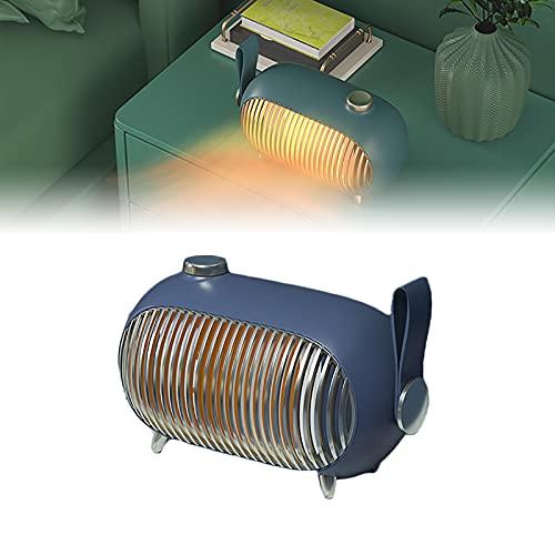 HRTX Calentador, Calefactor Bajo Consumo, 1000w, 3 Niveles Regulables, Calefacción PTC, Alta Eficiencia Y Ahorro Energético, Apto para Cabañas de 15-25 Metros Cuadrados,Azul