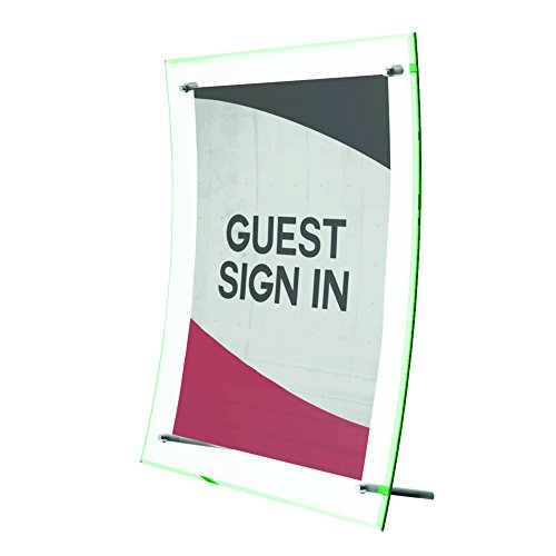 Deflecto Superior Image Curved Sign Holder, 8.5 x 11 Inches (799783)