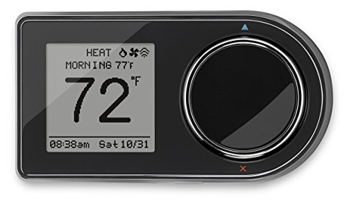 Lux Products GEO-BL Wi-Fi Thermostat, Black