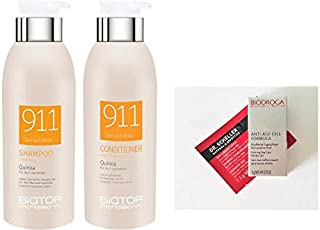 Biotop Professional 911 Quinoa Shampoo and Conditioner DUO 11.15 oz. each + 2 Free Samples