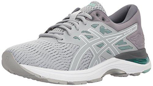 ASICS Women's Gel-Flux 5 Running Shoes, 8M, MID Grey/White/Opal Green