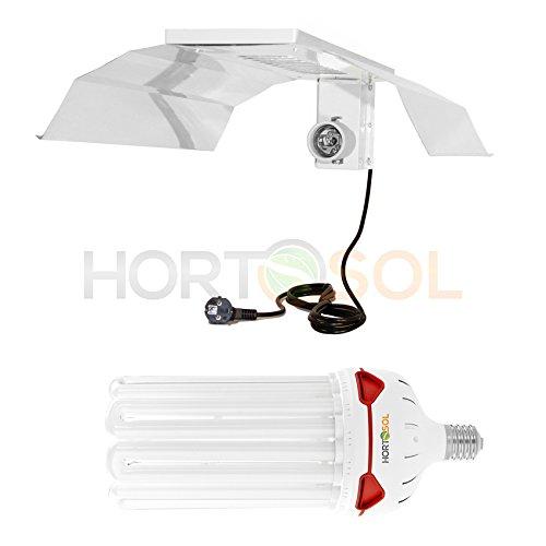 HORTOSOL ESL Set 250w 2700k Blüte Energiesparlampe + Reflektor